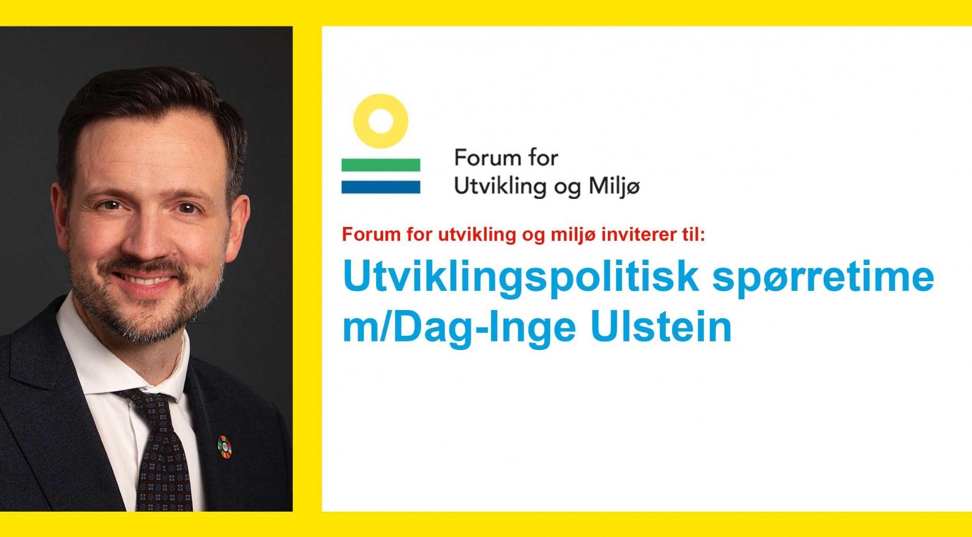 Utviklingspolitisk spørretime/m Dag-Inge Ulstein