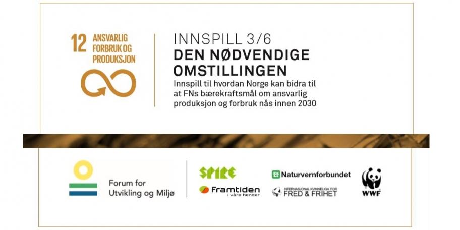 En ny politikk for bærekraftig forbruk